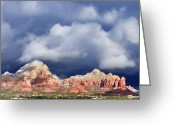 Rock Formations Greeting Cards - Sedona Solstice Greeting Card by Dan Turner