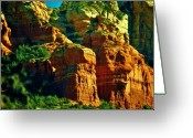 Geologic Formations Greeting Cards - Sedona Splendor Greeting Card by Helen Carson