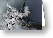 Surge Greeting Cards - Seduction Greeting Card by Dan Turner