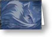 Mark Schutter Greeting Cards - Seduction in Blue Greeting Card by Mark Schutter