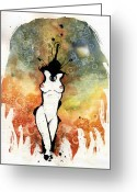 Reds Mixed Media Greeting Cards - Seduction Two Greeting Card by Mark M  Mellon