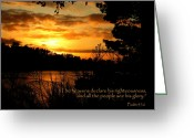 Reflected Tree Greeting Cards - See His Glory Greeting Card by Cindy Wright
