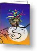 Wacom Tablet Greeting Cards - See No Evil Greeting Card by Kd Neeley