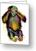 Hear Greeting Cards - See No Evil Greeting Card by Matt Truiano