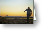 Seed Sower Greeting Cards - Seed Sower Greeting Card by Jeremy Sams