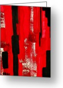 Vertical Painting Greeting Cards - Seeing Red Greeting Card by Marsha Heiken