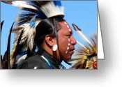 Lakota Greeting Cards - Seeing Greeting Card by Terril Heilman