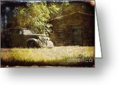 Rural Decay  Digital Art Greeting Cards - Seen Better Days Greeting Card by Sari Sauls