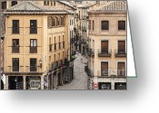Medeival Greeting Cards - Segovia  Greeting Card by John Greim