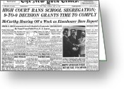 Thurgood Greeting Cards - Segregation Headline, 1954 Greeting Card by Granger