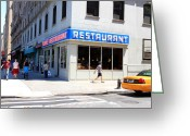 Seinfeld Greeting Cards - Seinfeld Diner Location Greeting Card by Valentino Visentini