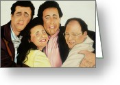 Seinfeld Greeting Cards - Seinfeld Greeting Card by Douglas Fincham