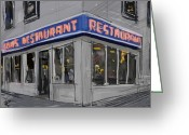 Seinfeld Greeting Cards - Seinfeld Restaurant Greeting Card by Russell Pierce