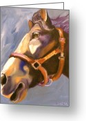 Horse Greeting Cards - Seize the Day Greeting Card by Susan A Becker