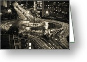 Traffic Greeting Cards - Selamat Datang Monument Greeting Card by David Fletcher