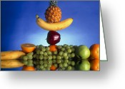 Selection Greeting Cards - Selection Of Fruit, Part Of A Healthy Diet Greeting Card by Victor Habbick Visions