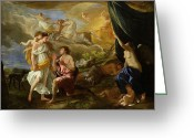Poussin Greeting Cards - Selene and Endymion Greeting Card by Nicolas Poussin