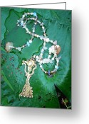 Sun Jewelry Greeting Cards - Self-Esteem Necklace with Offerings Goddess Pendant Greeting Card by Jelila Jelila