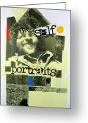 Black And White Photos Mixed Media Greeting Cards - Self Portrait - In The House Greeting Card by Cliff Spohn