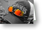 Baseball Cap Greeting Cards - Self Portrait Greeting Card by Luke Moore
