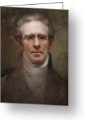 Portraits Greeting Cards - Self Portrait Greeting Card by Rembrandt Peale