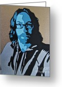 Tom Evans Greeting Cards - Self Portrait Greeting Card by Tom Evans