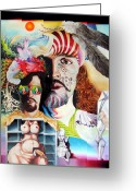 Fantastic Realism Greeting Cards - Selfportrait With The Critical Eye Greeting Card by Otto Rapp