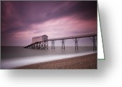 Neutral Greeting Cards - Selsey Lifeboat Station Greeting Card by Nina Papiorek