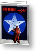 Bombers Greeting Cards - Send Us More and Fast  Greeting Card by War Is Hell Store