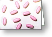 Pill Greeting Cards - Senior Health Supplement Greeting Card by Photo Researchers