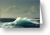 Sennen Greeting Cards - Sennen surf Greeting Card by Linsey Williams