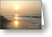 Carolina Greeting Cards - Sensational Sunrise Greeting Card by Todd A Blanchard