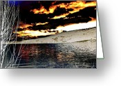 Willows Digital Art Greeting Cards - Sensational Winter Sunset Greeting Card by Will Borden