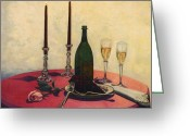 Dom Perignon Greeting Cards - Sensual Pleasures Greeting Card by Michael John Cavanagh