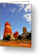 Rock Formations Greeting Cards - Sensuous Sandstone Greeting Card by Christine Till