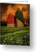 Twilight Photo Greeting Cards - Sentient Greeting Card by Phil Koch