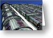 Sentinel Greeting Cards - Sentinel building  Greeting Card by Garry Gay