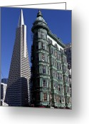 Sentinel Greeting Cards - Sentinel Building San Francisco Greeting Card by Garry Gay