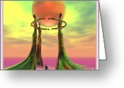 2d Greeting Cards - Sentinels II Greeting Card by Sandra Bauser Digital Art
