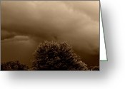 Tans Greeting Cards - Sepia Storm Greeting Card by Chris Berry