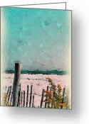 Quite Greeting Cards - September Beach Greeting Card by Susan Fisher