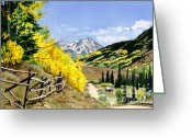 Barbara Painting Greeting Cards - September Gold Greeting Card by Barbara Jewell