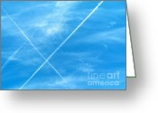 Airplanes Digital Art Greeting Cards - September Sky II Greeting Card by Kip DeVore