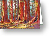 Fawns Greeting Cards - Sequoia Deer Greeting Card by Nadi Spencer