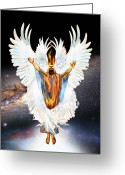Seraph Greeting Cards - Seraph Cries Holy Greeting Card by Ron Cantrell