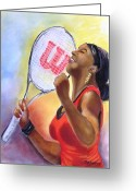 Wins Greeting Cards - Serena Shines Greeting Card by Carol Allen Anfinsen