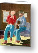 Happy Texas Artist Greeting Cards - Serenade Greeting Card by Fred Jinkins