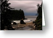 Olympic National Park Greeting Cards - Serene and pure - Ruby Beach - Olympic Peninsula WA Greeting Card by Christine Till