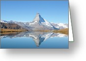 Clear Photo Greeting Cards - Serene Matterhorn Greeting Card by Monica and Michael Sweet