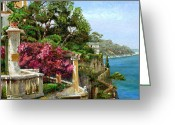 Fence Gate Greeting Cards - Serene Sorrento Greeting Card by Trevor Neal